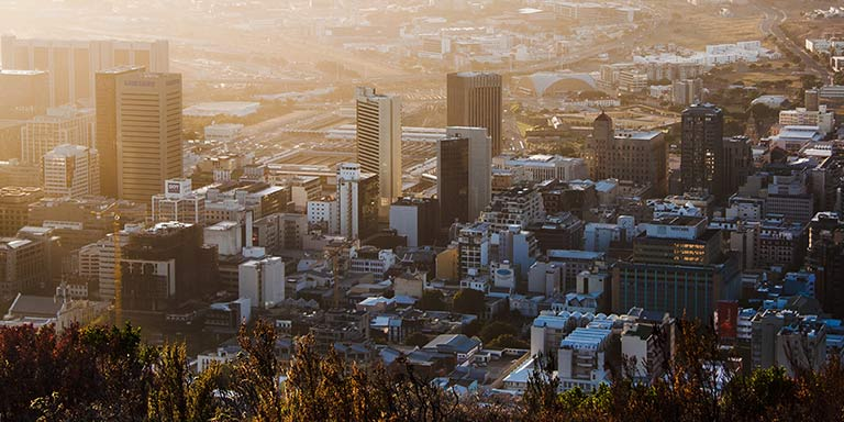 overlook of Cape Town, South Africa
